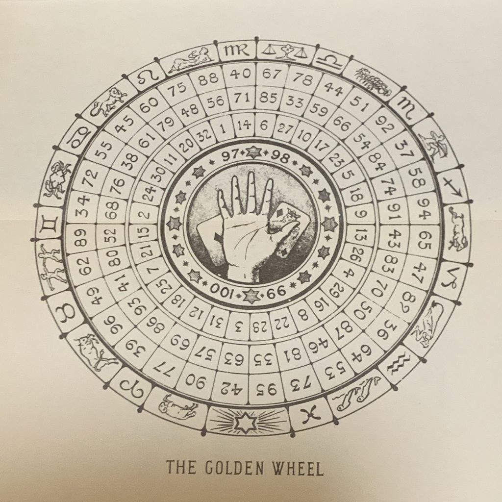 The Golden Wheel Fortune Telling.